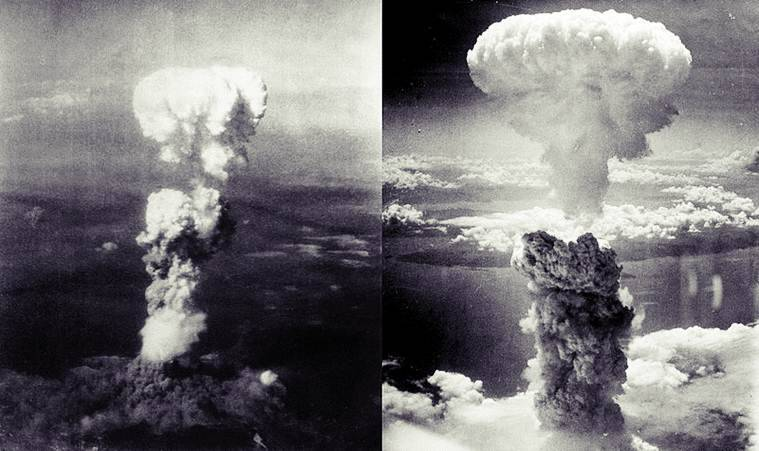 US bombed Hiroshima on August 9, 1945 and Nagasaki three days later.