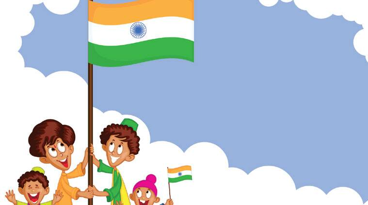 what does independence day mean to young people now the indian rh indianexpress com india independence day animated clip art indian independence day clipart black and white