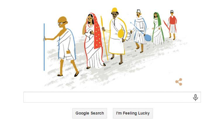 Google Marks 69th Independence Day Of India With Dandi
