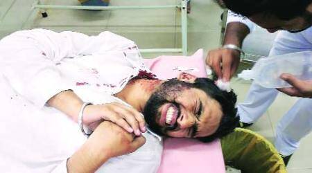 Protest against poll codes; ABVP member injured in clash