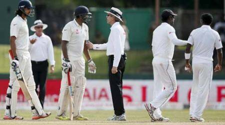 India vs Sri Lanka, Ishant Sharma, Ishant, Dhamika Prasad, Prasad vs Ishant, Ishant vs Prasad, Sri Lanka vs India, Ind vs SL, SL vs Ind, Cricket scores, cricket fight, cricket news, cricket