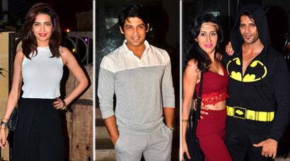 Karishma Tanna, Siddharth Shukla at Karanvir Bohra's birthday bash