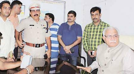 Khattar visits Sector 5 police station, orders medical examination of three cops