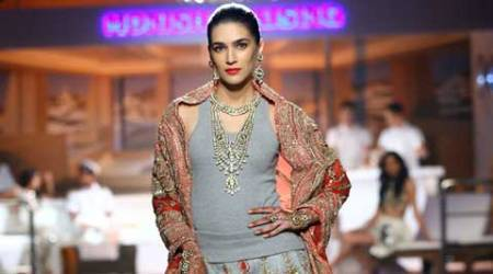 Kriti Sanon turns sporty bride for Monisha Jaising at AICW