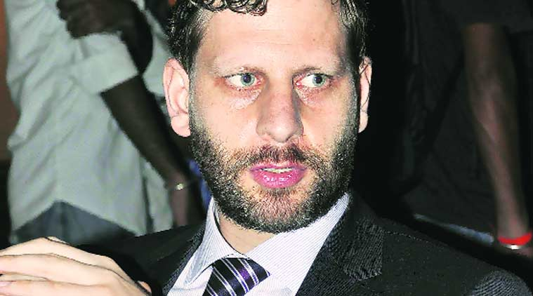 Stephan Lanzinger, counsellor of German Embassy, at Panjab University on Friday.  (Source: Express Photo by Sahil Walia)