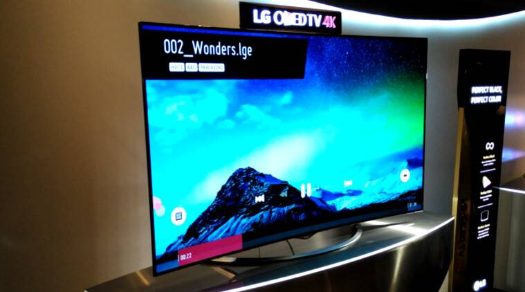 lg 4k oled tvs come to india starting price rs 3 84 000 only the indian express. Black Bedroom Furniture Sets. Home Design Ideas
