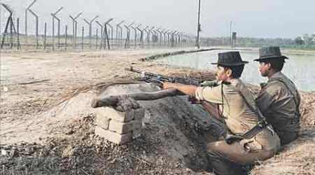 Indian Army, LOC fence, Line of Control fencing, India Pakistan border, border security, thermal sensing cameras, Indian express
