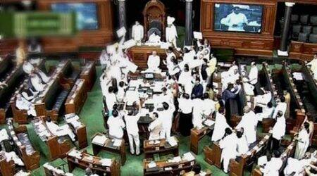 Lok Sabha protest, lok sabha logjam, protest in Lok sabha, bjp government, nda government, parliament logjam, parliament protest, india news, nation news
