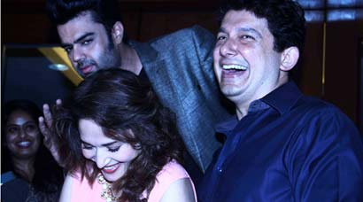 Madhuri Dixit, husband Sriram Nene party with Manish Paul on his birthday