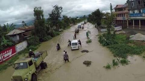 VIDEO: Floods in Mizoram, Manipur render several families homeless