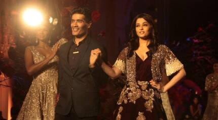'Unwell' Aishwarya Rai Bachchan turns perfect muse for Manish Malhotra at AICW 2015
