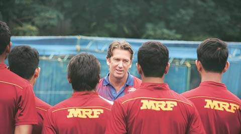 In MRF Pace Academy, if Lillee didn't get you, McGrath will