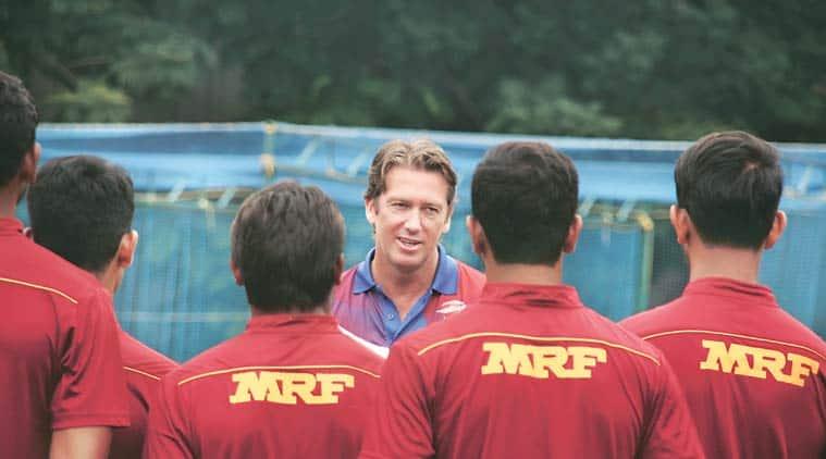 glenn mcgrath, sachin tendulkar, dennis lillee, mrf pace academy, mrf pace foundation. bowlers training, mrf bowlers training, Sachin Tendulkar, Tendulkar, Sachin, sachin tendulkar india, glenn mcgrath, mcgrath, sachin tendulkar glenn mcgrath, india cricket team, cricket news, cricket