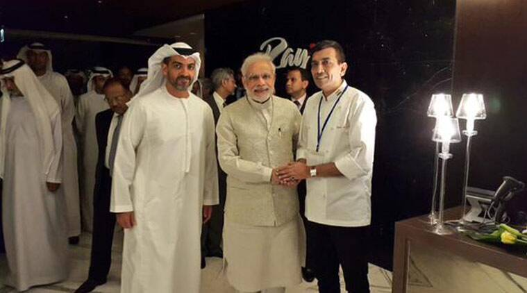 Narendra Modi, United Arab Emirates, Modi in UAE, Modi UAE visit, Sanjeev Kapoor, Modi UAE visit lunch, India news, latest news , top stories