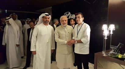 Modi, PM Modi, Modi in UAE, modi uae photos, Sanjeev Kapoor, Sanjeev Kapoor UAE photos, UAE sanjeev kapoor, modi sanjeev kapoor, sanjeev kapoor uae, modi news, uae news, india news