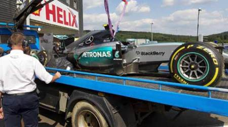 Nico Rosberg unhurt after high speed blow-out at Belgian Spa