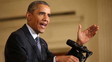 President Barack Obama speaks about his Clean Power Plan in the East Room of the White House. AP Photo
