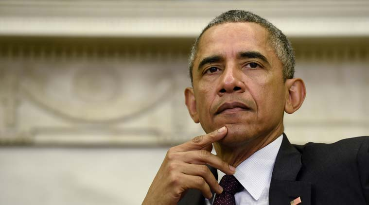 US President Barack Obama during a meeting in the Oval Office at the White House in Washington. AP Photo