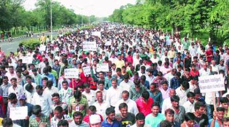 Agitation for OBC status: Patidars take out a silent march in capital to send the messageacross