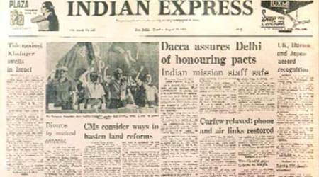 Indian Express, Indian Express front page, front page