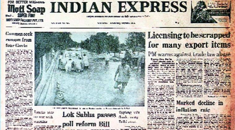 Indian Express, Indian Express front page, front page Indian express