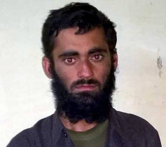 Srinagar: Pakistani terrorist Sajjad Ahmad alias Javed Ahmed who was captured alive by the army in an encounter in Rafiabad area of Baramulla district on Thursday. PTI Photo / Courtesy NDTV