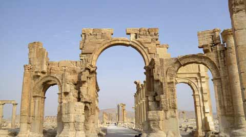 Extent of damage after the ISIS attack at Palmyra temple unclear, says Syrian official