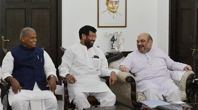 Image result for pics of Ramvilas paswan + amitshah