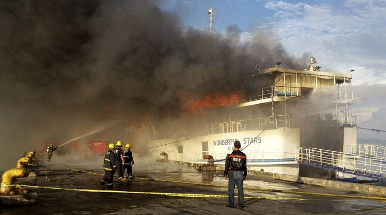 philippines, philippines fire, philippines ferry fire, philippines boat fire, fire philippines, philippines, news, asia news, world news, indian express