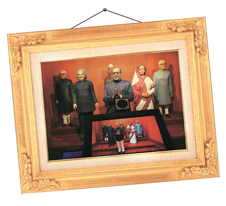 The statues of President Mukherjee and his predecessors at the Rashtrapati Bhavan museum. (Source: Express photo by Renuka Puri)