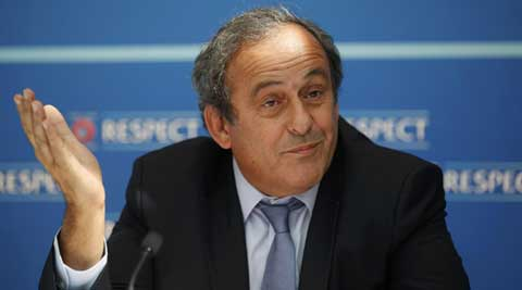 Michel Platini avoids FIFA talk, says in last term as UEFA chief