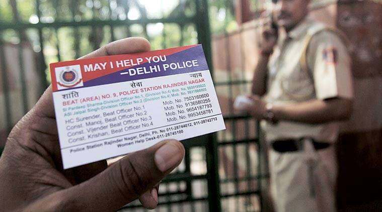 With visiting cards police lend helping hand the indian express the may i help you visiting card has phone numbers and other information about colourmoves Images