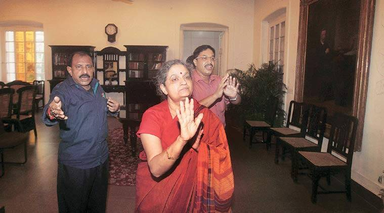Presidency University V-C Anuradha Lohia at her chamber on Tuesday. (Source: Express Photo by Partha Paul)