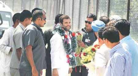 rahul gandhi, rahul gandhi in pampore, rahul gandhi narendra modi, gujarat unrest, gujarat violence, patidar protest, patidar quota, obc quota, patel protest, patel quota, hardik patel, bjp, congress, india news