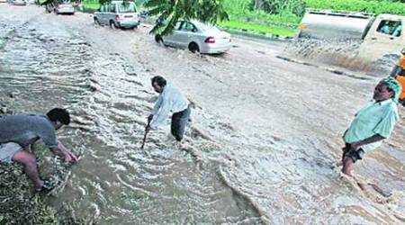 Rain again leads to traffic snarls, chaos in Chandigarh