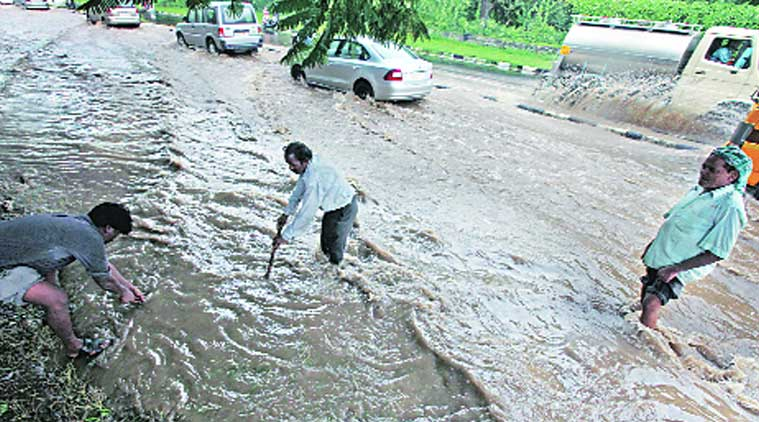 rain, heavy rain, chandigarh rain, CMC, chandigarh news, indian express