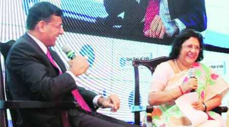 RBI, Raghuram Rajan, indian banks, Arundhati Bhattacharya, bank loans, Reserve Bank of India, RBI Governor Raghuram Rajan, State Bank of India, SBI Arundhati Bhattacharya, SBI Banking Conclave, NPA, Indian express, business news