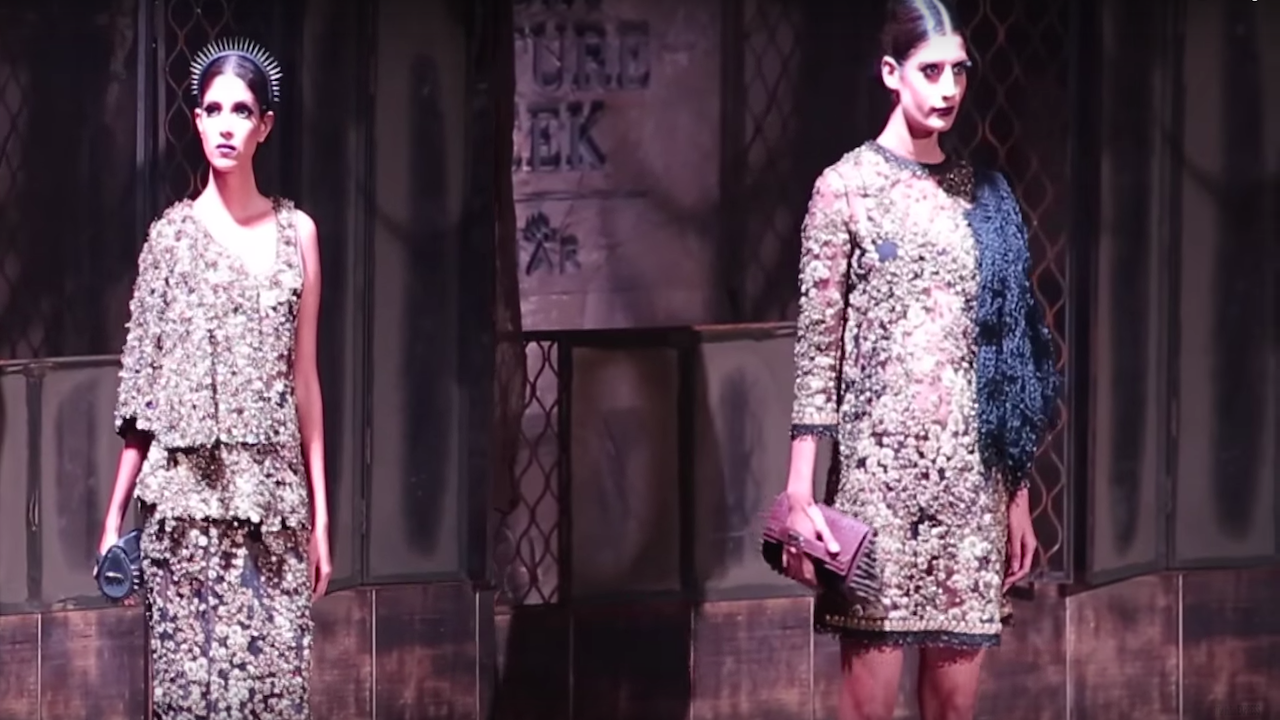 "Sabyasachi's ""Bater"" Collection at Amazon India Couture Week 2015"