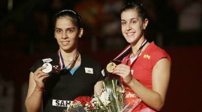 saina nehwal, saina nehwal badminton, saina nehwal score, saina nehwal final, saina nehwal photos, saina photos, saina nehwal vs carolina marin, marin, badminton championship, world championship, badminton photos, badminton
