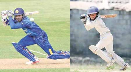 Action replay: Little Sangakkara bats to fame