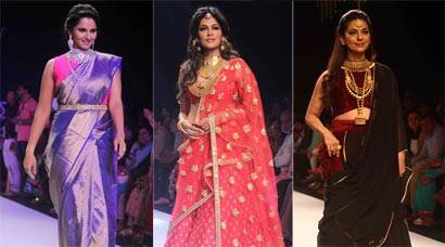 Ramp Dazzlers: Sania Mirza, Chitrangada Singh, JuhiChawla