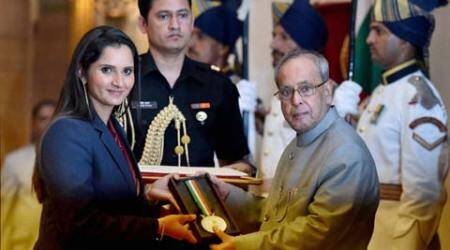 Sania Mirza conferred with Rajiv Gandhi Khel Ratna award
