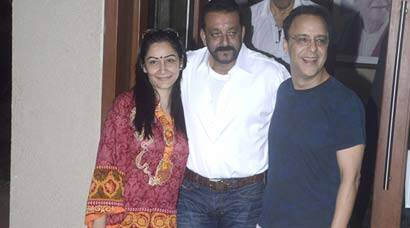Sanjay Dutt is back home, welcomed by wife Maanyata and Vidhu Vinod Chopra