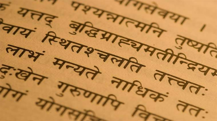 sanskrit, sanskrit in india, sanskrit mother tongue, official language in Uttarakhand, sanskrit extinct language, sanskrit language, indian express opinion