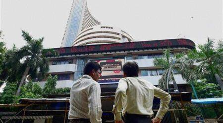 Sensex on Monday sunk 1,624.51 points to end the day at 25,741.56. (AP Photo)
