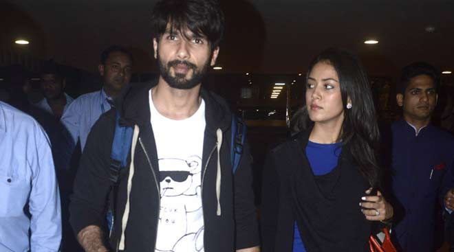 Shahid Kapoor, wife Mira Rajput back from London holiday