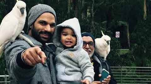 Three Dhawan generations spend time in Melbourne