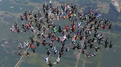 'It's awesome!': World record for largest ever vertical skydiving formation broken