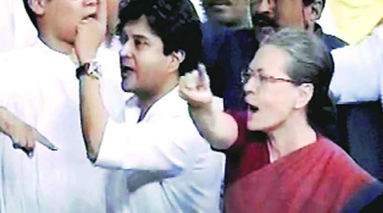 Taunt by BJP MP sends Sonia stomping into well: 'What did he say?'