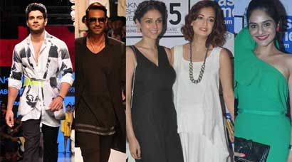 'Hero' Sooraj Pancholi, Arjun Rampal walk at the LFW; Dia, Aditi, Madhoo are guests